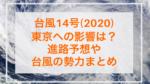 台風14号(2020)東京への影響は?進路予想や上陸の可能性はある?