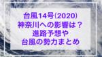 台風14号(2020)神奈川への影響は?進路予想や上陸の可能性はある?