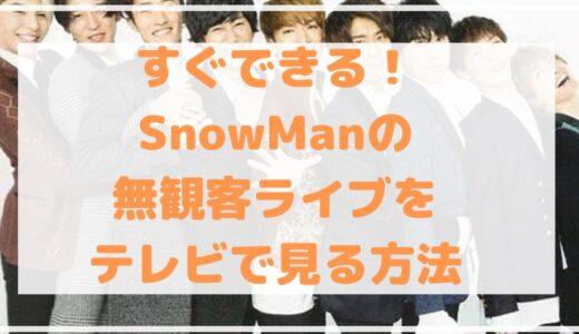 すぐできる!SnowManの無観客ライブをテレビで見る方法