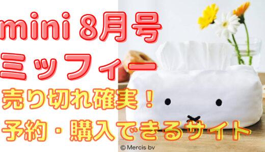 mini8月号ミッフィ―ティッシュボックス予約開始!在庫ありサイト一覧